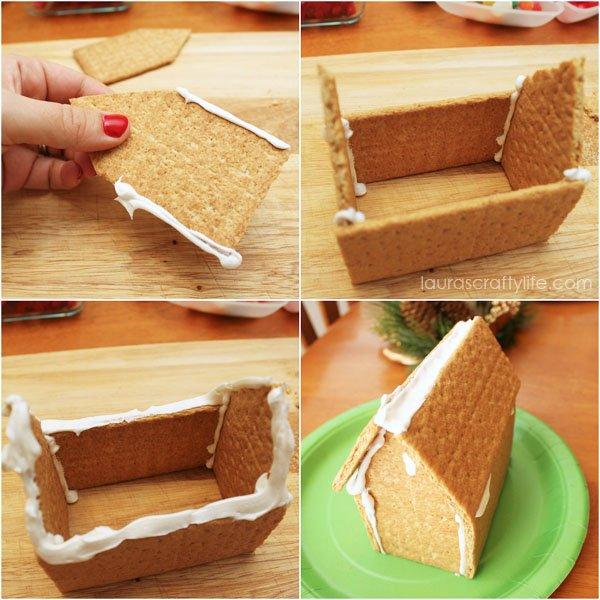 How to make graham cracker gingerbread house