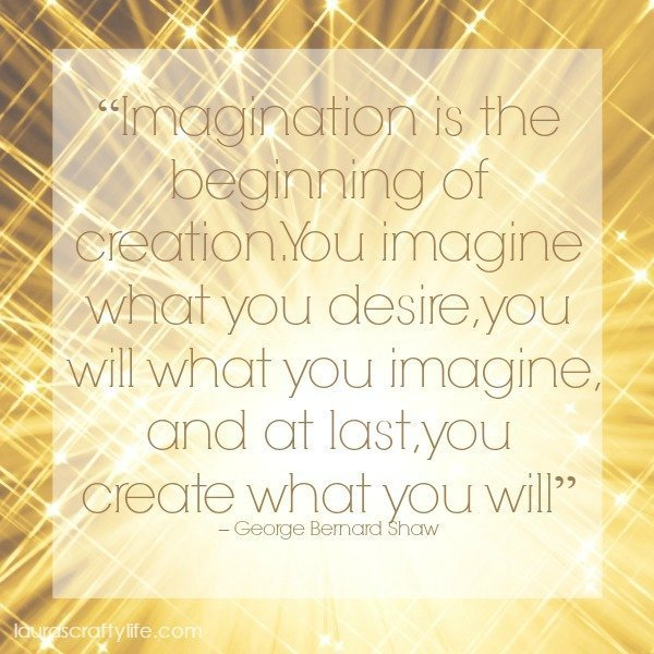 Imagination is the beginning of creation.