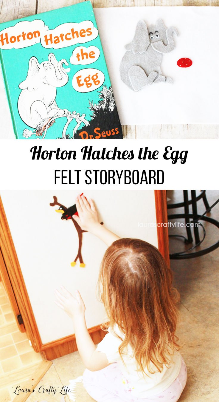 Horton Hatches the Egg felt storyboard - kid's activity to celebrate Dr. Seuss
