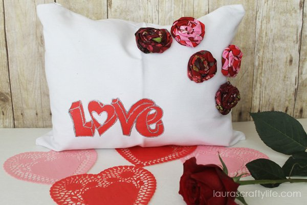 Valentine Love Pillow - Laura's Crafty Life