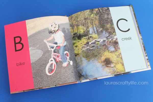 Sample ABC Photo Book pages - B and C - Laura's Crafty Life