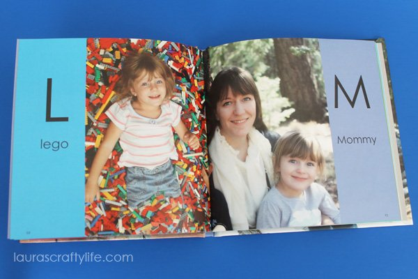 Sample ABC Photo Book pages - L and M - Laura's Crafty Life