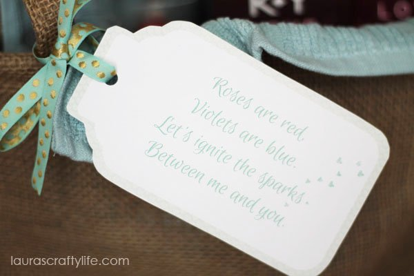 Valentine Gift Basket Tag - Laura's Crafty Life #LoveOurVDay #Ad