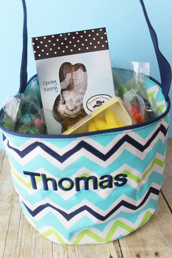 Cool Waves Easter Tote - blue