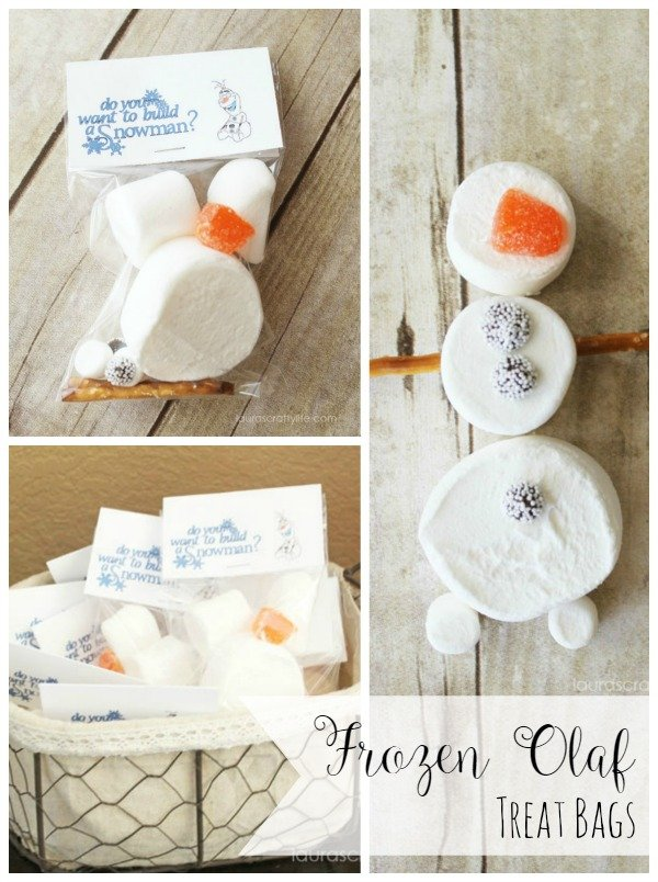 Disney Frozen Treat Bags Do You Want To Build A Snowman Laura S Crafty Life