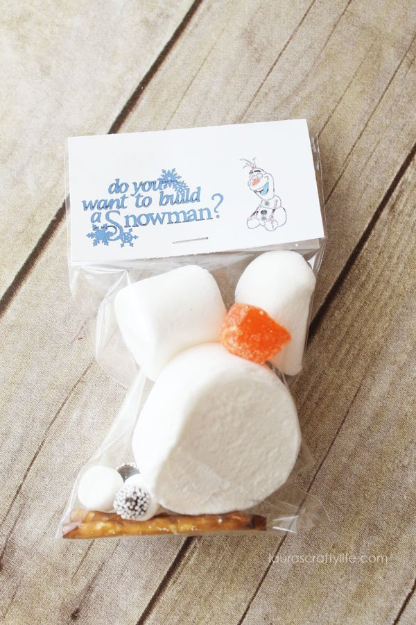 Do you want to build a snowman - Frozen Treat Bag - Laura's Crafty Life