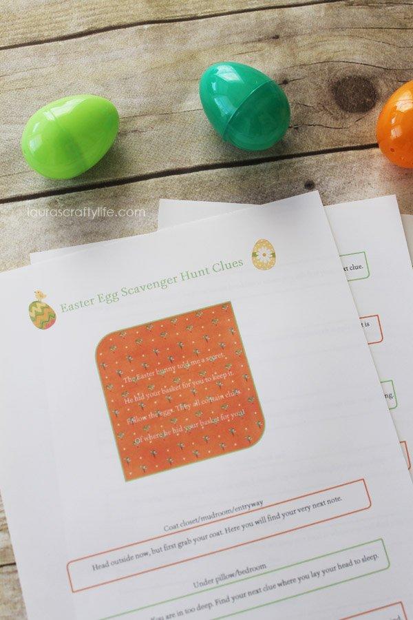 Easter Egg Scavenger Hunt printable