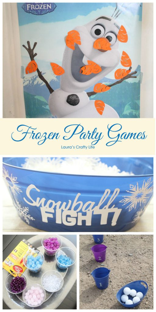 Frozen Party Games - Laura's Crafty Life