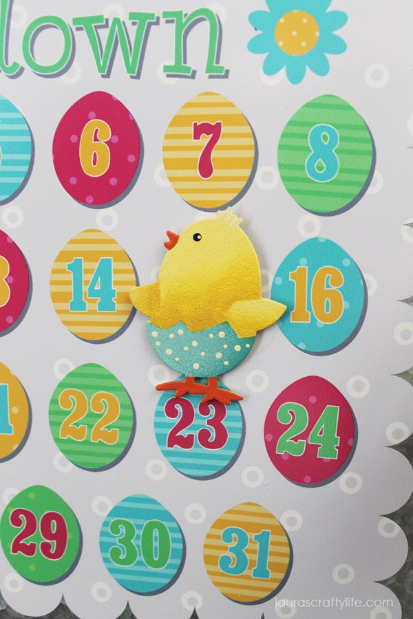 Magnets for personalized Easter magnet countdown board