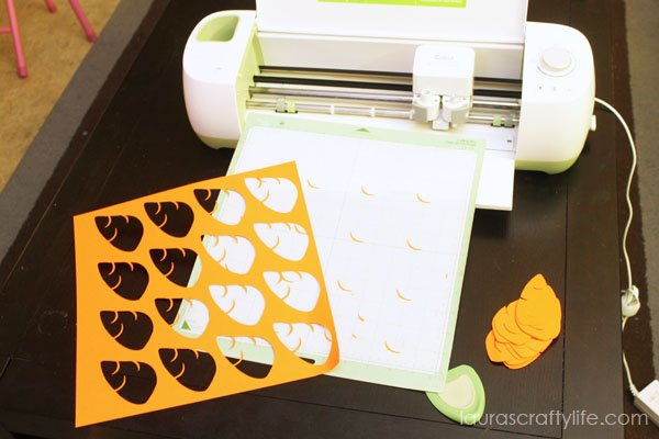 Use Cricut Explore to cut out carrot noses