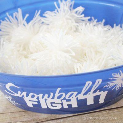 white pom pom snowballs