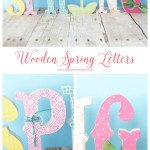 Wooden spring letter decor