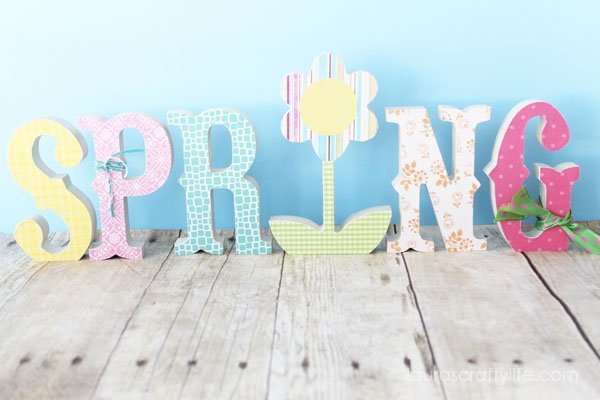 Wooden Spring Letters