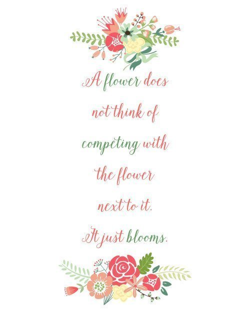 A Flower Blooms Printable