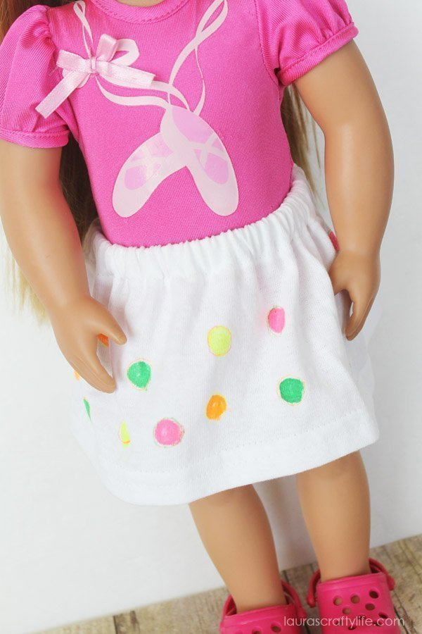 American Girl Decorated Skirt
