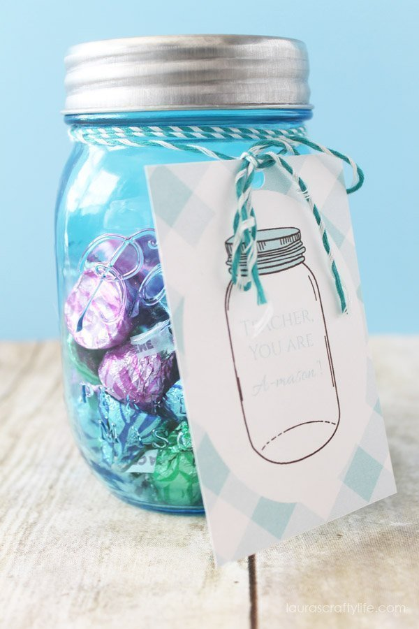 Candy Treat Mason Jar Teacher Appreciation Gift