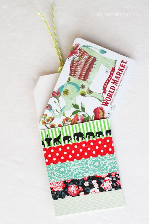 Crafts in a Snap - Washi Tape Gift Card Holder