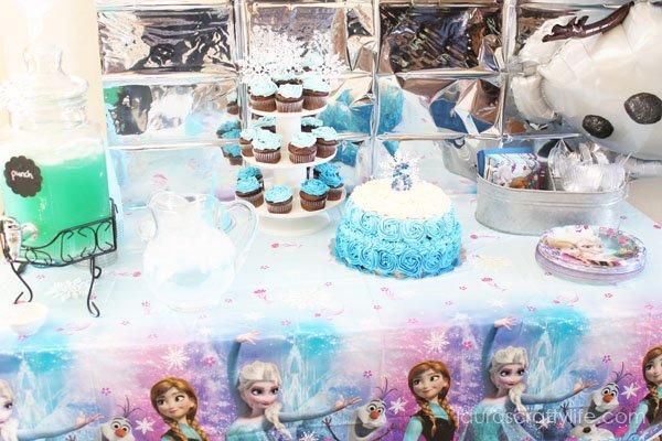 Dessert Table at Disney Frozen Party