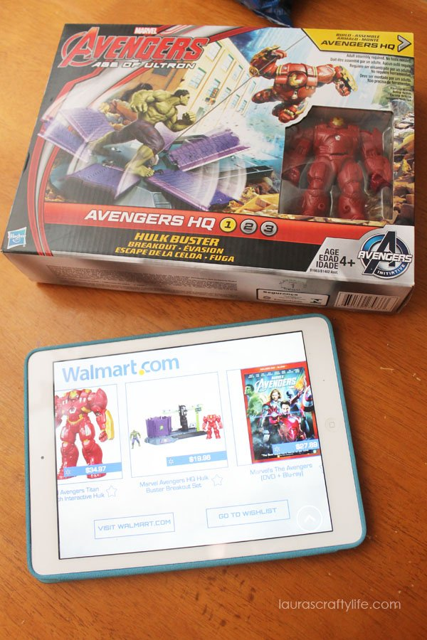 Find toys and products to purchase in the Super Heroes Assemble app