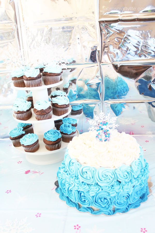 Frozen Cake and Cupcakes - Laura's Crafty Life