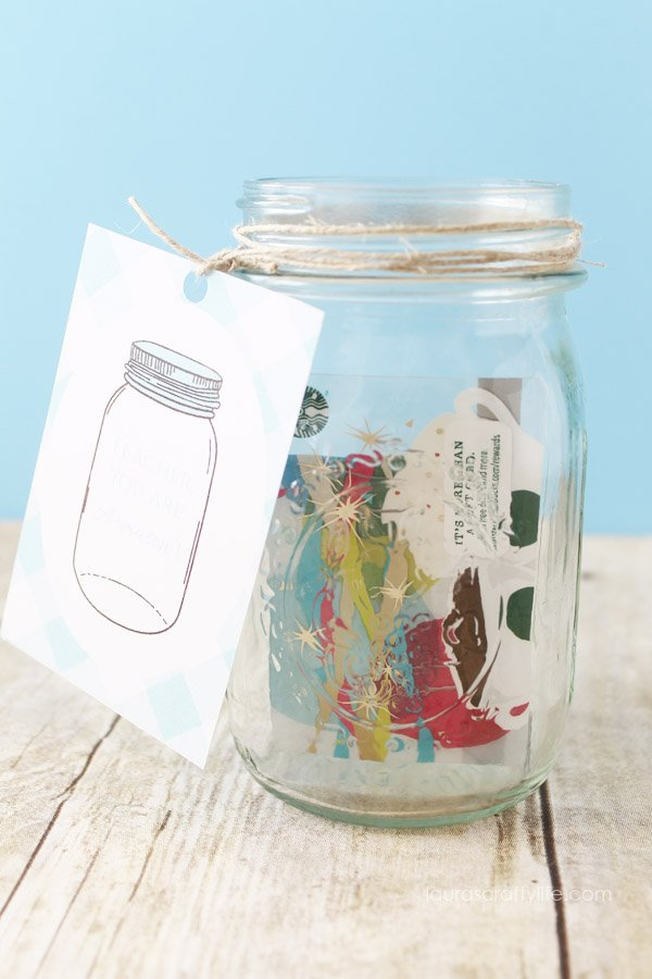 Gift Card Mason Jar Teacher Appreciation Gift Idea