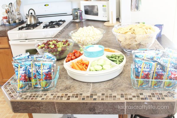 Party food for Frozen Birthday Party
