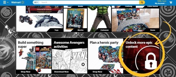 Unlock content at Walmart.com #AvengersUnite