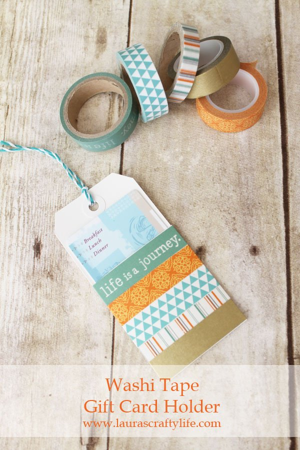 Washi Tape Gift Card Holder - Laura's Crafty Life