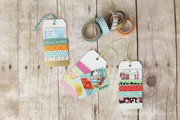 Washi Tape Gift Card Holders - Laura's Crafty Life