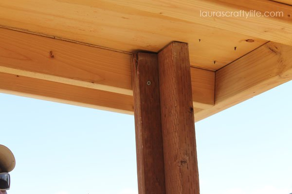 Attach upright to inner roof 2 x 4