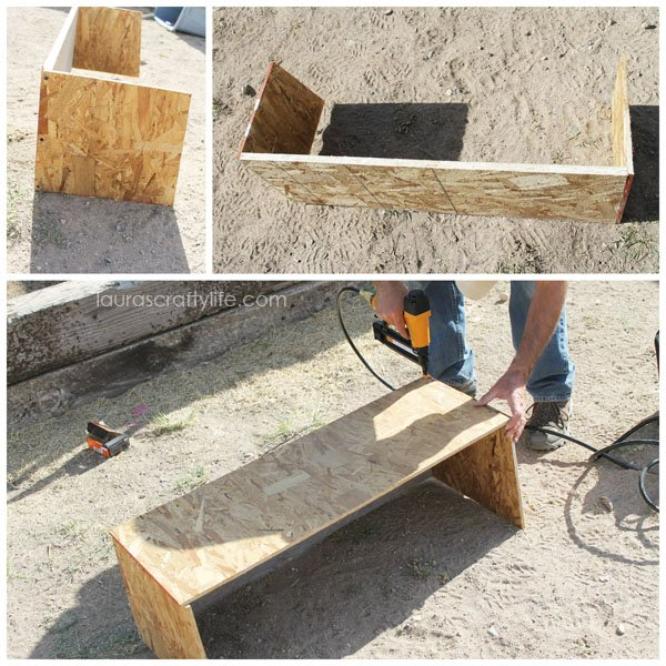 Build nesting box for chicken coop