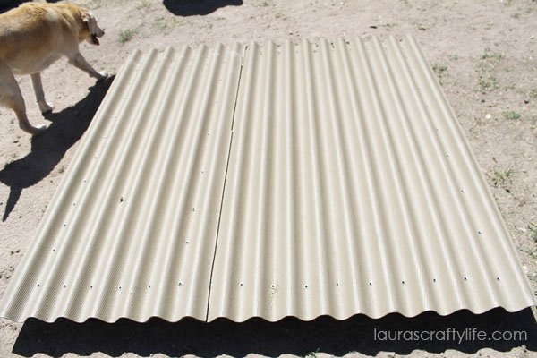 Overlap corrugated roofing so water will run off