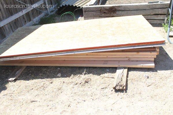 Wood needed to build chicken coop