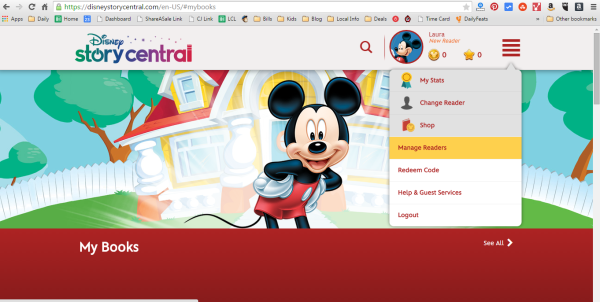 Add tokens to your children's Disney Story Central accounts