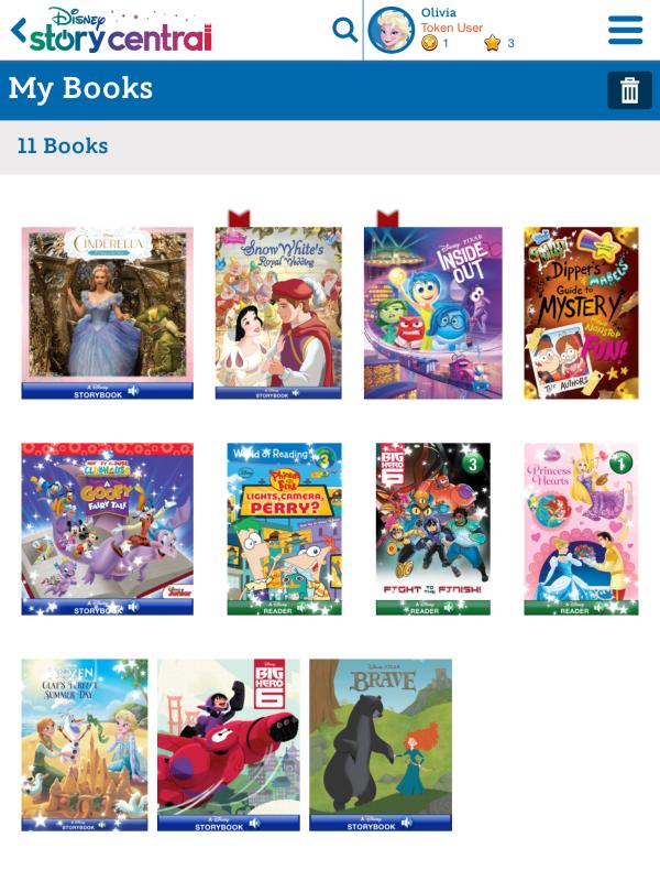 Disney Story Central Bookshelf