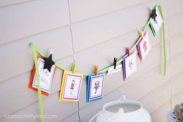 Fairy Banner from Fairy Party Printable Collection - Shop Laura Kelly