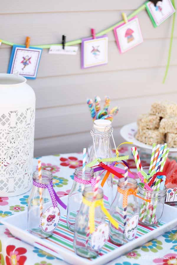 Fairy party drink station