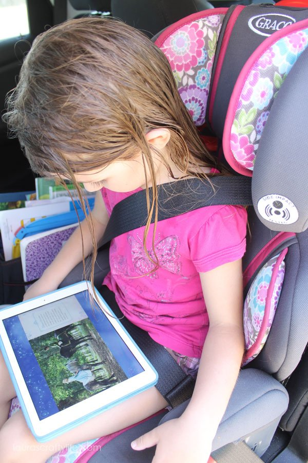 Reading in the car with the Disney Story Central app