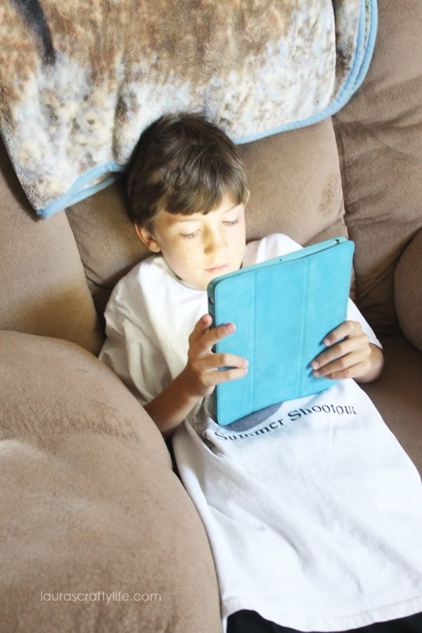 Reading on the tablet with Disney Story Central