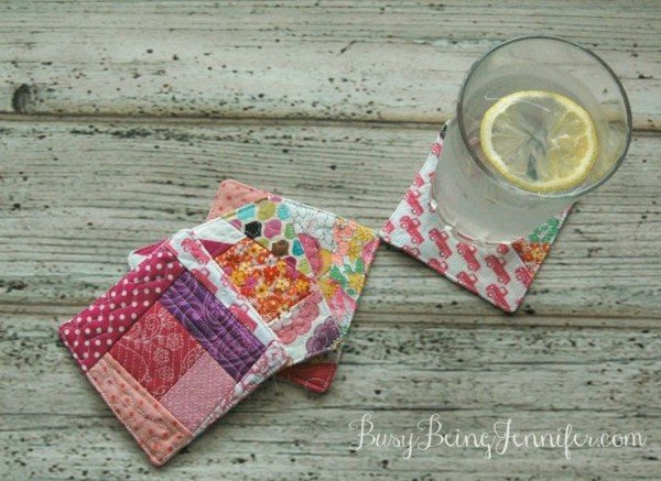 Scrappy Quilt Coasters