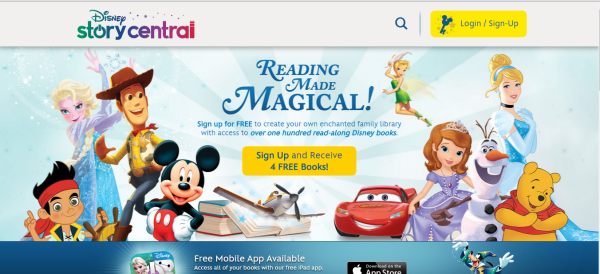 Sign up for a Disney Story Central account