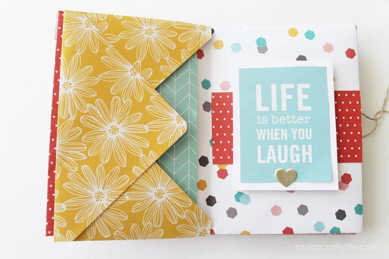 Envelope Mini Album - Life is Better When you Laugh