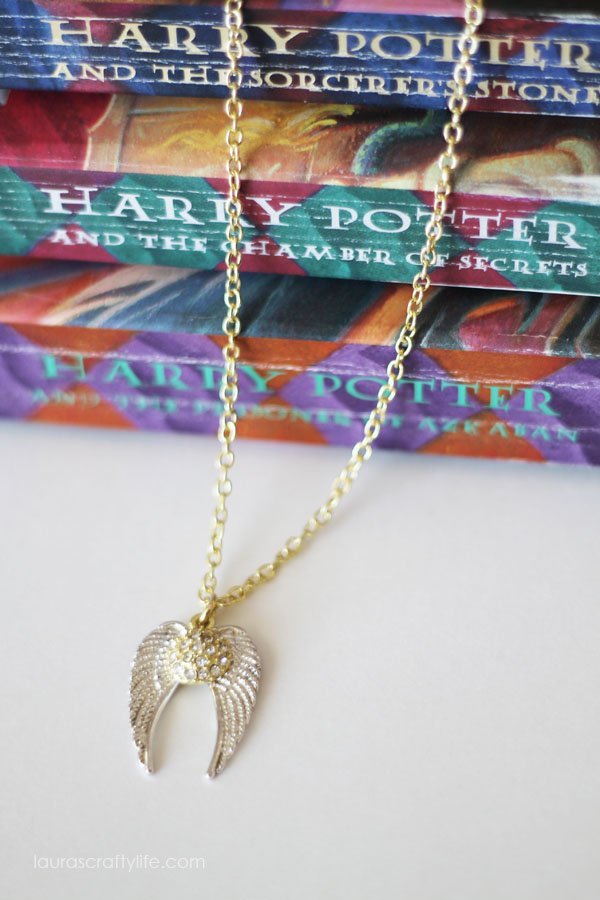 Harry Potter and the Sorcerer's Stone - Golden Snitch Necklace - Laura's Crafty Life