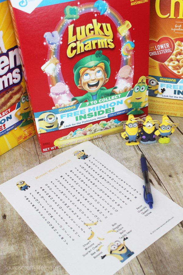 Minion Word Search #The7thMinion - Laura's Crafty Life