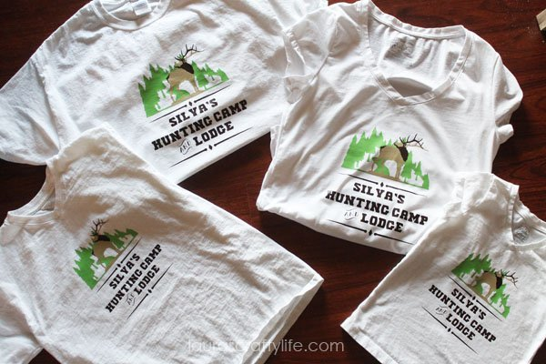 Silva's Hunting Camp and Lodge - personalized vinyl family t-shirts - Laura's Crafty Life