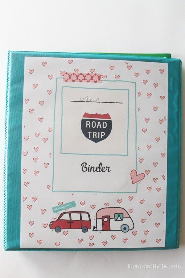 Car and Trailer Road Trip Binder