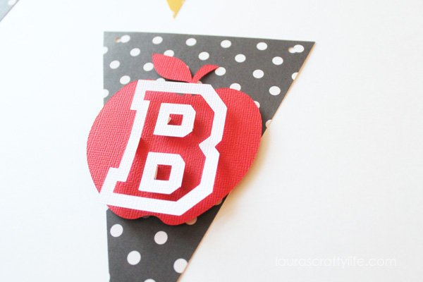 Completed Back to School banner pennant
