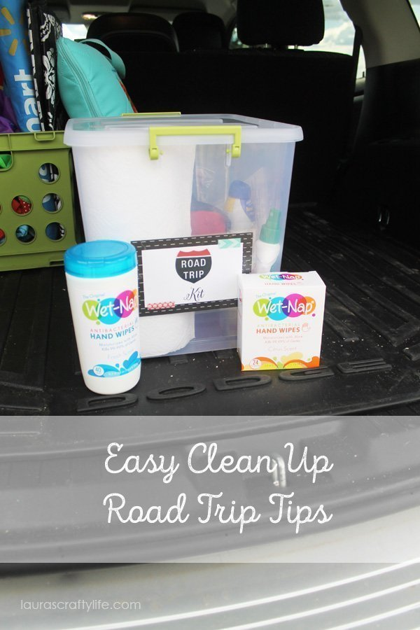 Easy Clean Up Road Trip Tips - Laura's Crafty Life