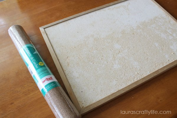 Cork board contact paper