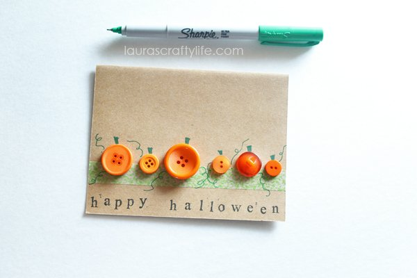 Draw on stems and vines for pumpkins
